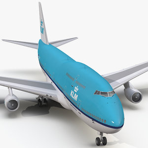 boeing 747-400 klm 3d model