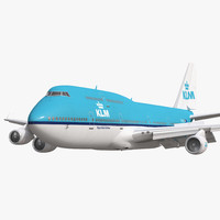 3d model boeing 747 400 klm