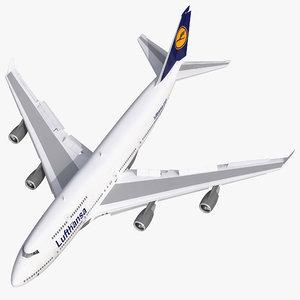 3d model boeing 747 400 lufthansa
