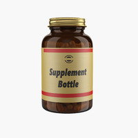 supplement bottle 3d model