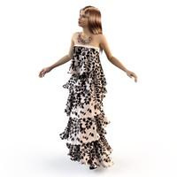 3d model of summer dress