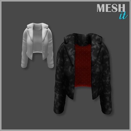 3ds jacket black fur