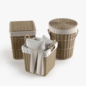 3d laundry basket model