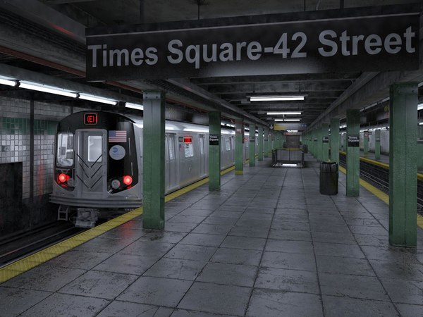 nyc subway station c4d