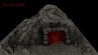 3d model cave enterance