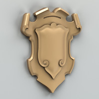 3d model of decorative cartouche