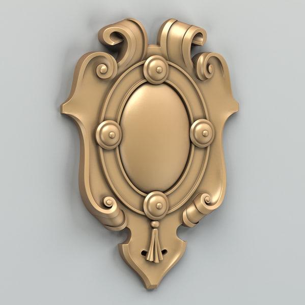 decorative cartouche 3d max