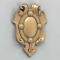 decorative cartouche 3d max