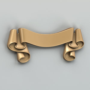 decorative ribbon 3d model