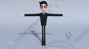 cartoon character fbx