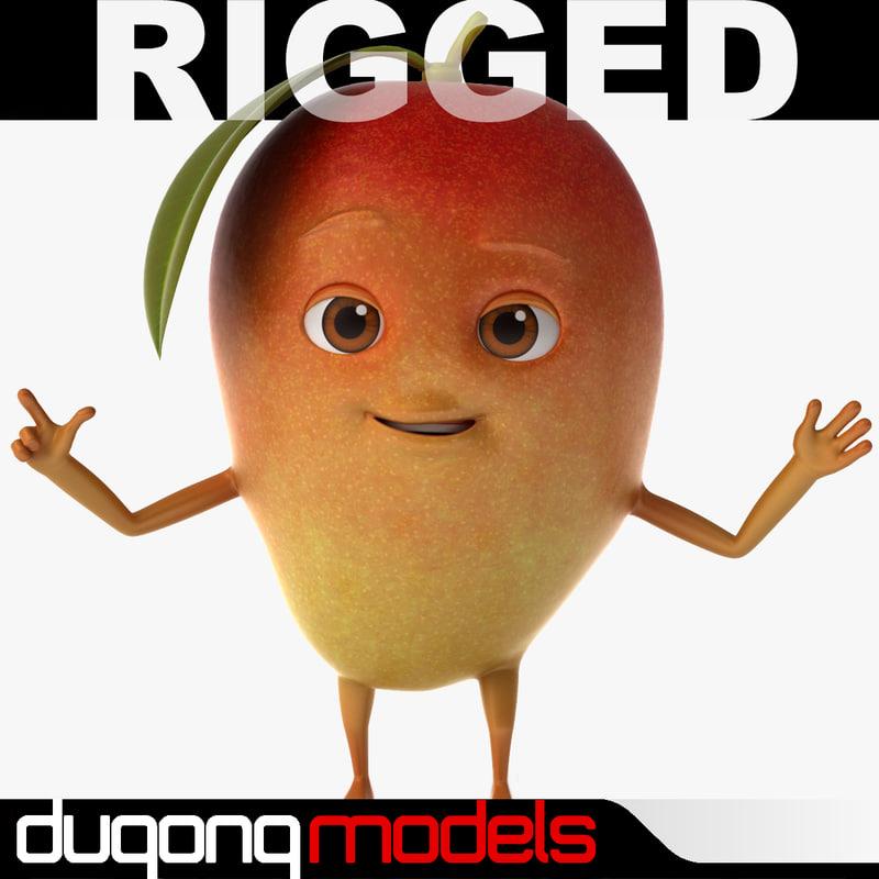 3d dugm07 cartoon red mango model