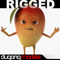 Cartoon Red Mango Rigged