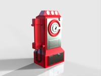 3d model old telephone