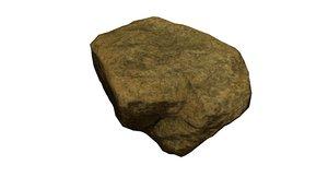 rock stone scan 3d obj
