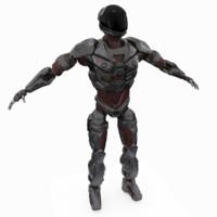 sci-fi robot 3d max