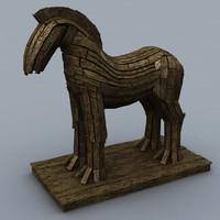 3d troy horse