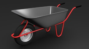 3d wheelbarrow barrow model