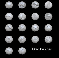drag brushes for Zbrush