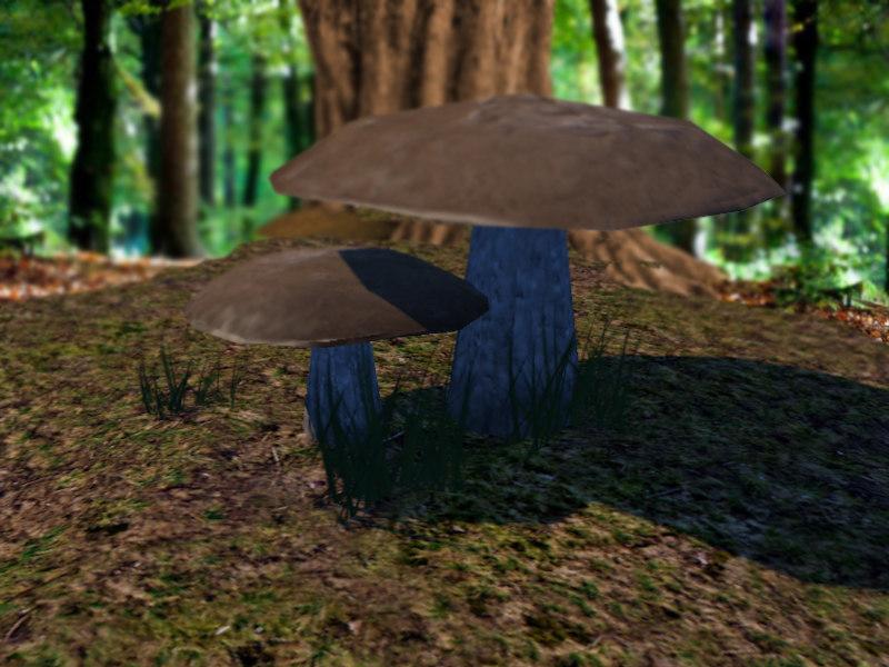 mushroom brown obj