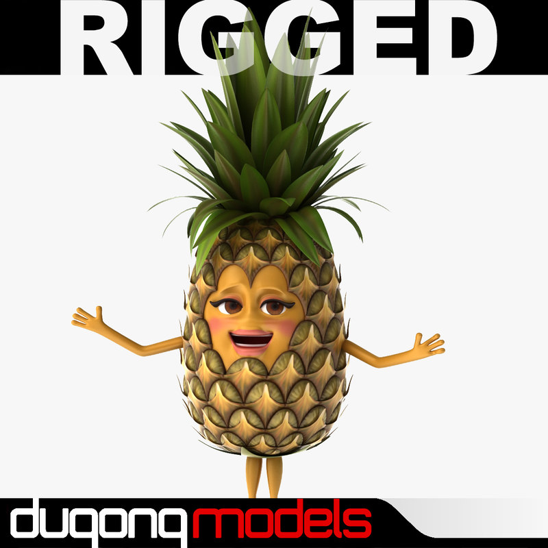 max dugm07 cartoon pineapple rigged