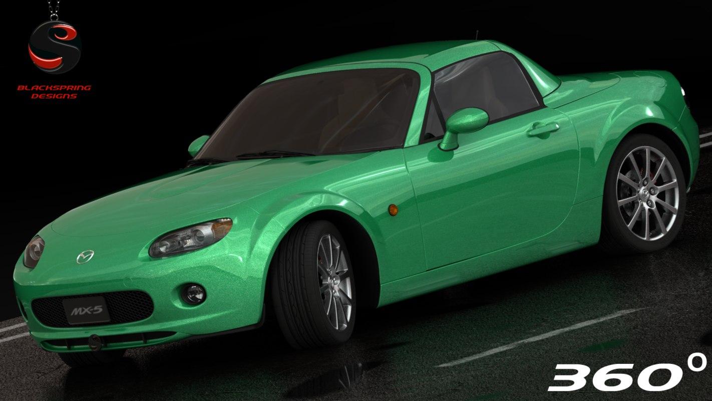 3d model of mazda mx-5 2006 interior