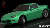 3d model of mazda mx-5 2006 interior