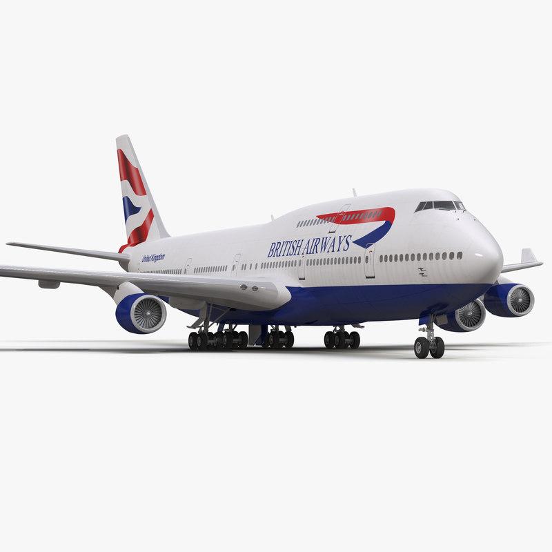 boeing 747-400 british airways 3d 3ds