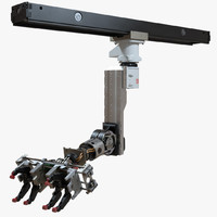 industrial robotic arm mounted 3d model