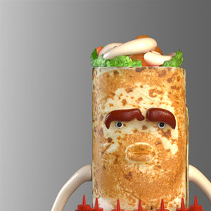 kebab guy modeled 3d max
