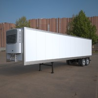 refrigerated semi trailer american 3d max