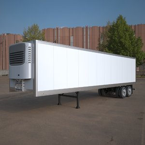 refrigerated semi trailer american 3d max