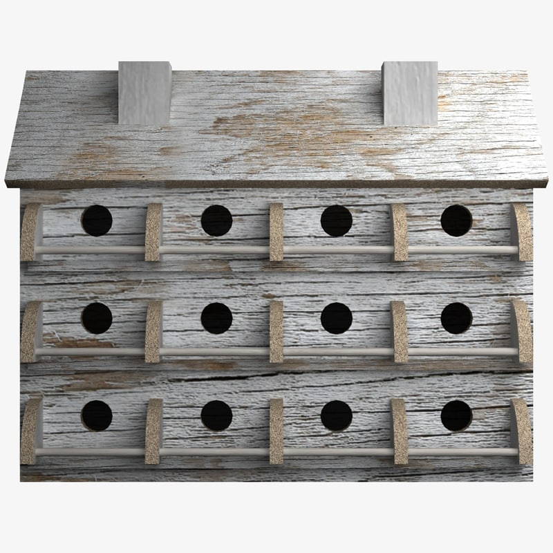 3d bird house lightwave model
