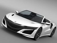 3d model honda nsx cabriolet 2017