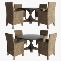 RH DINING ROOM SET 5