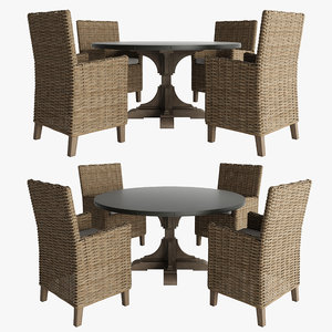 3d model of dining table