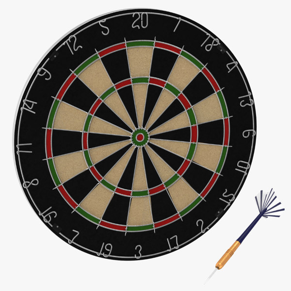 3d model dartboard dart