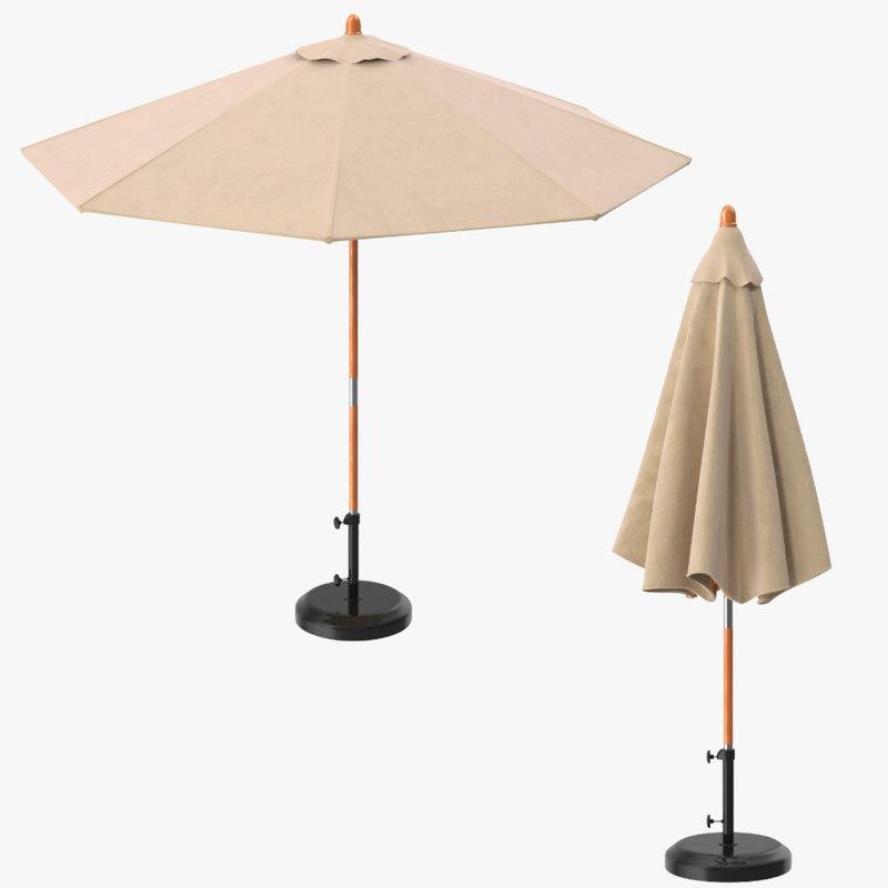 umbrella opened closed c4d