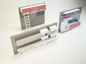 3d unit model