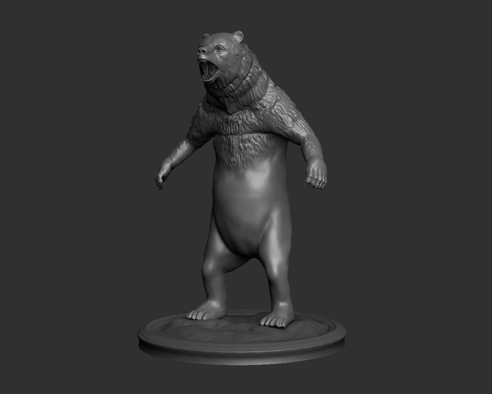 3d model bear sculpture