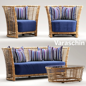 3d model chair armchair varaschin