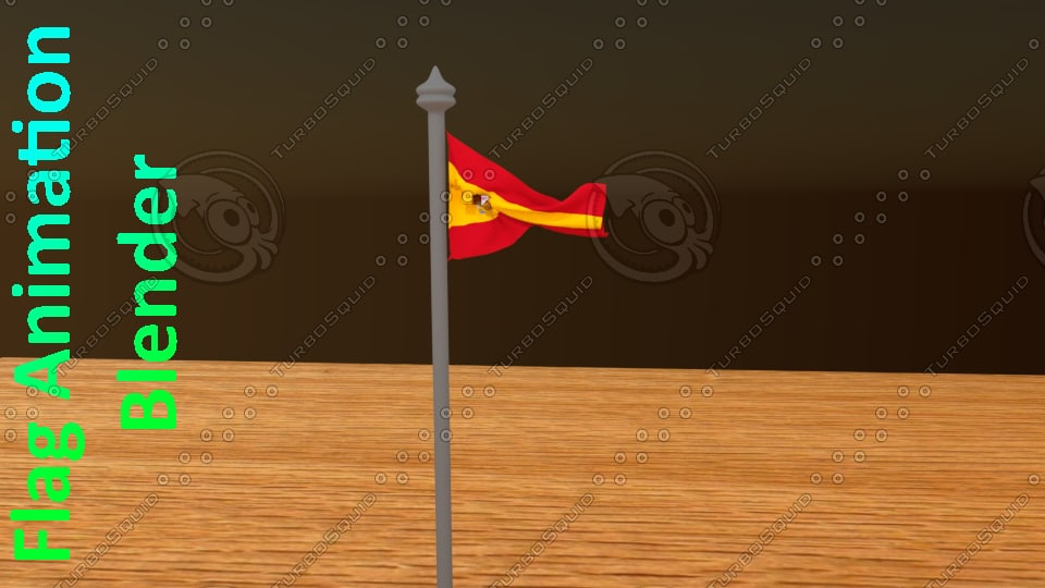 3d model flag animation