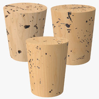 3 corks 3d model