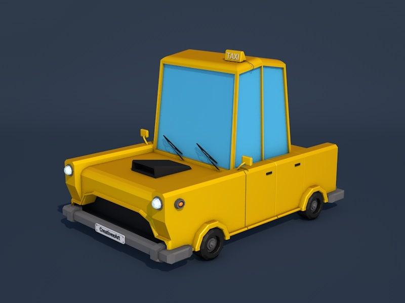 3d taxi car