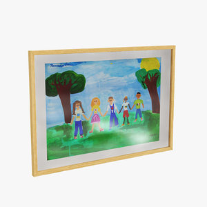 childrens wood frame max