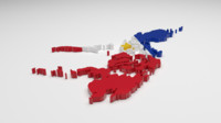 3d philippines flag model
