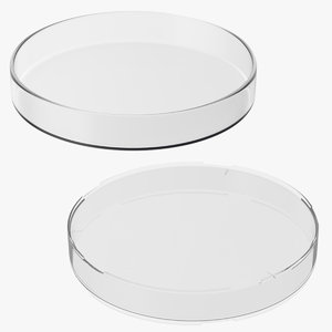 petri dishes plastic 3d max