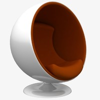 3d ball chair model