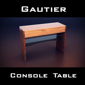 3d model of gautier extreme console table