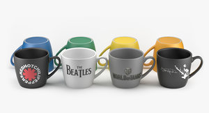 photorealistic branded custom mugs 3d max