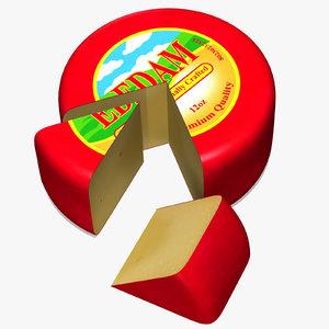 edam dutch cheese 3d model